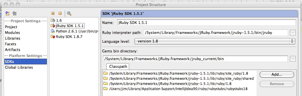 Installing JRuby with Intellij (OS X)   non-random ramble
